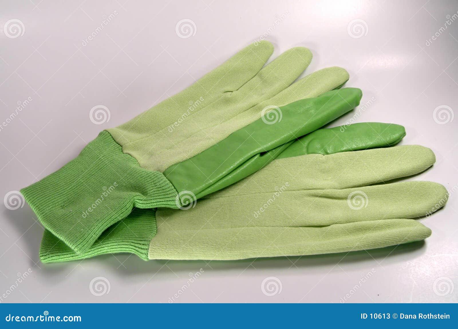 Grüne Handschuhe