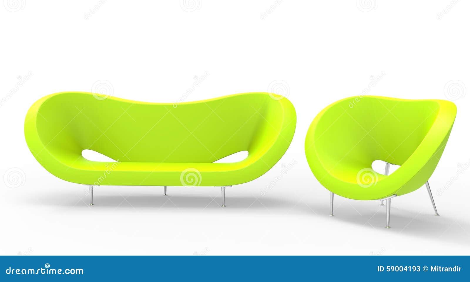 Grüne moderne Möbel stockbild. Bild von getrennt, hintergrund - 59004193
