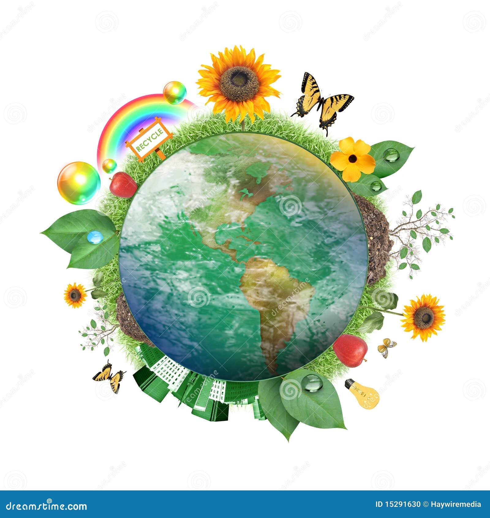 Grüne Natur-Erde-Ikone