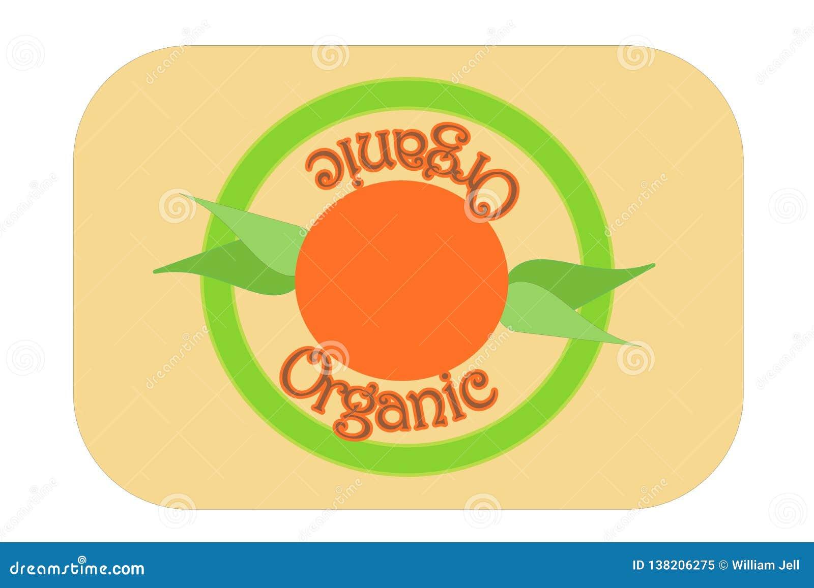 Grüne organische Aufkleberstempelillustration mit Morgensonne und -blättern