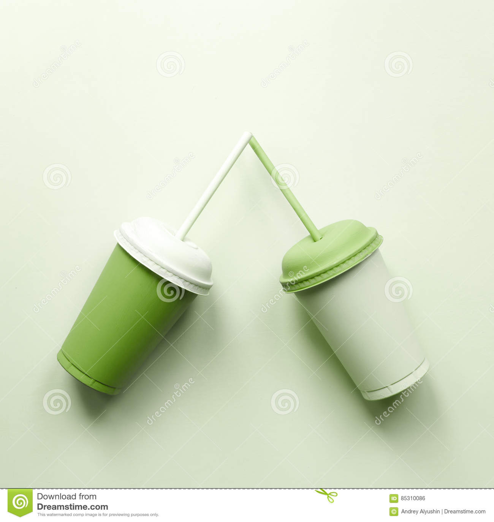 Grüne Plastikcup grün