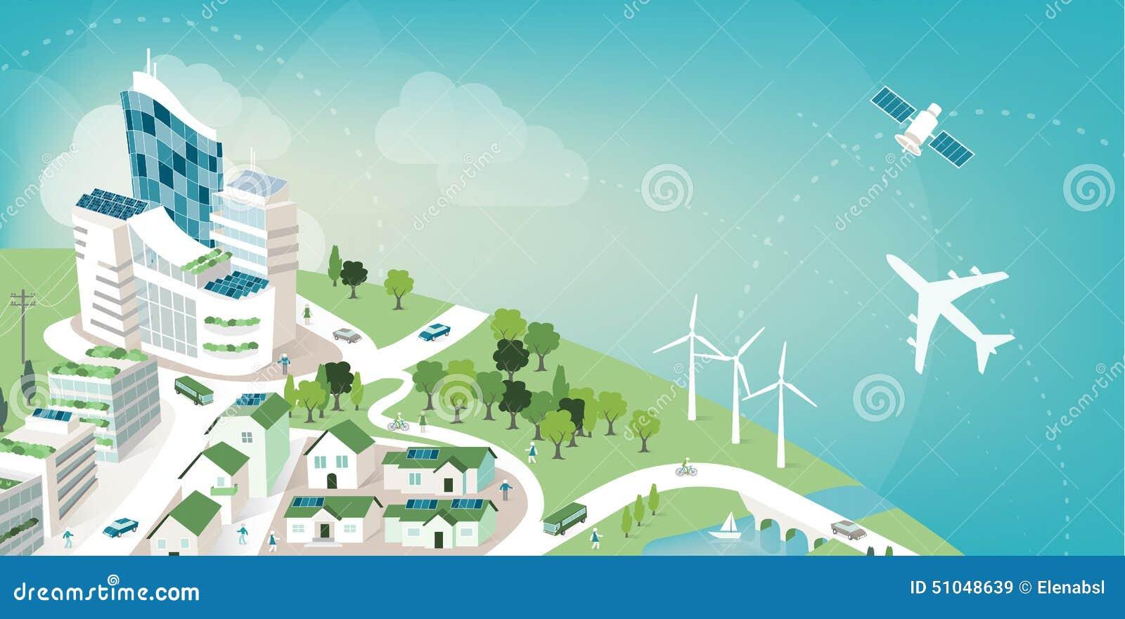 Grüne Stadtfahne