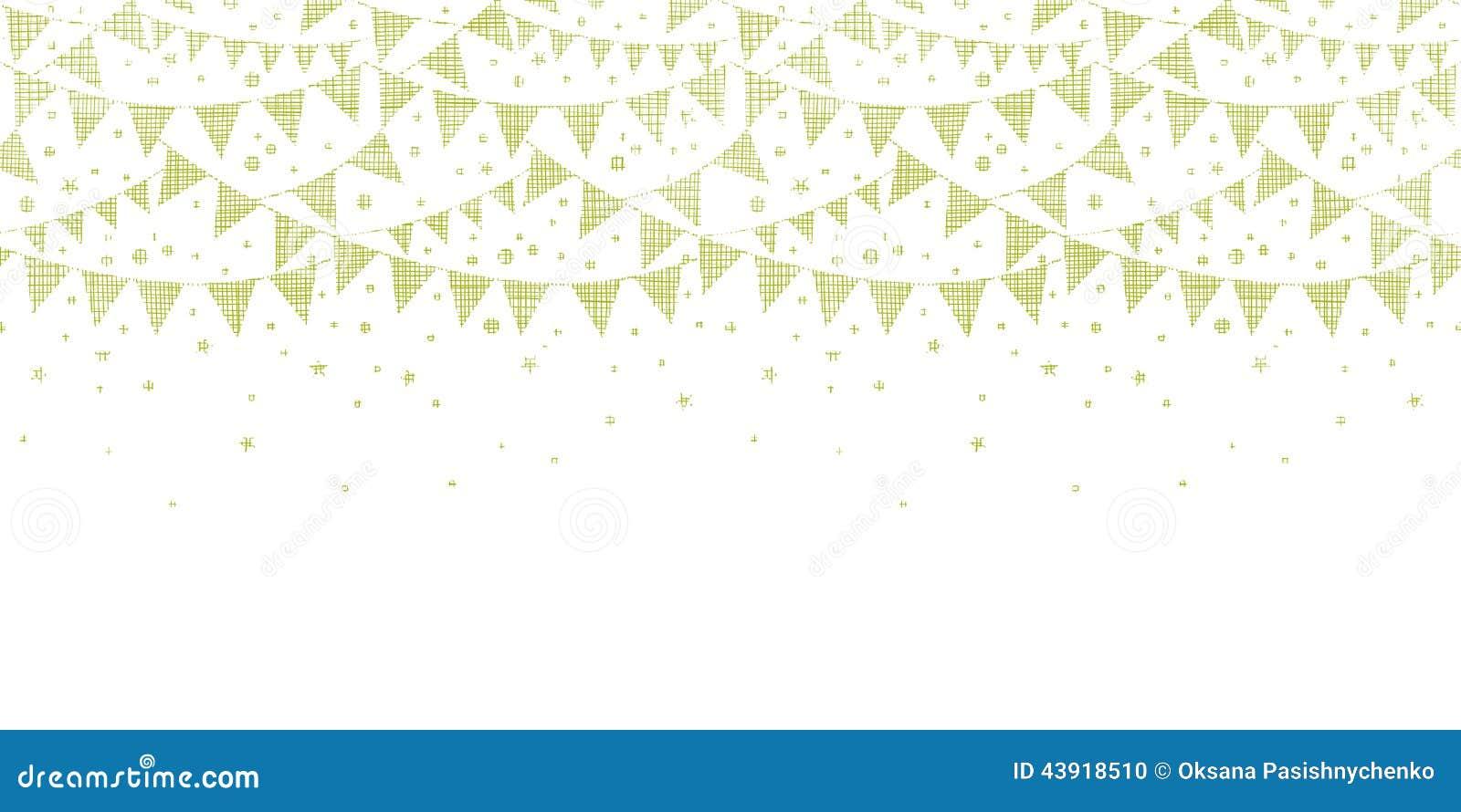 Grüne Textilpartei, die horizontales nahtloses mit dem Kopfe stößt