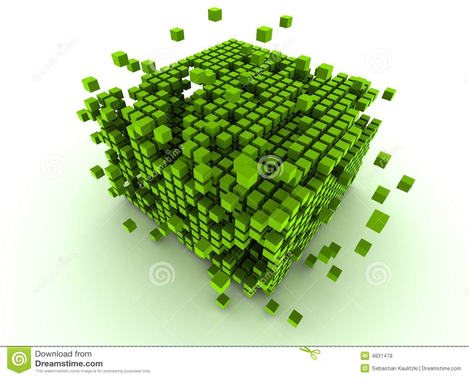Grüne Würfel