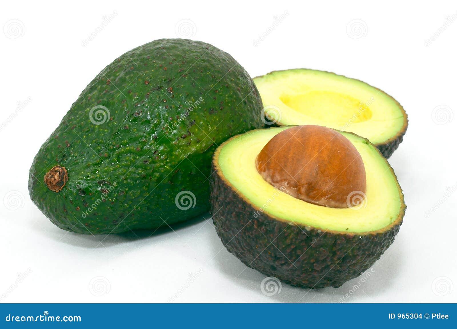 Grünen Sie Avocado mit dem reifen Schnitt