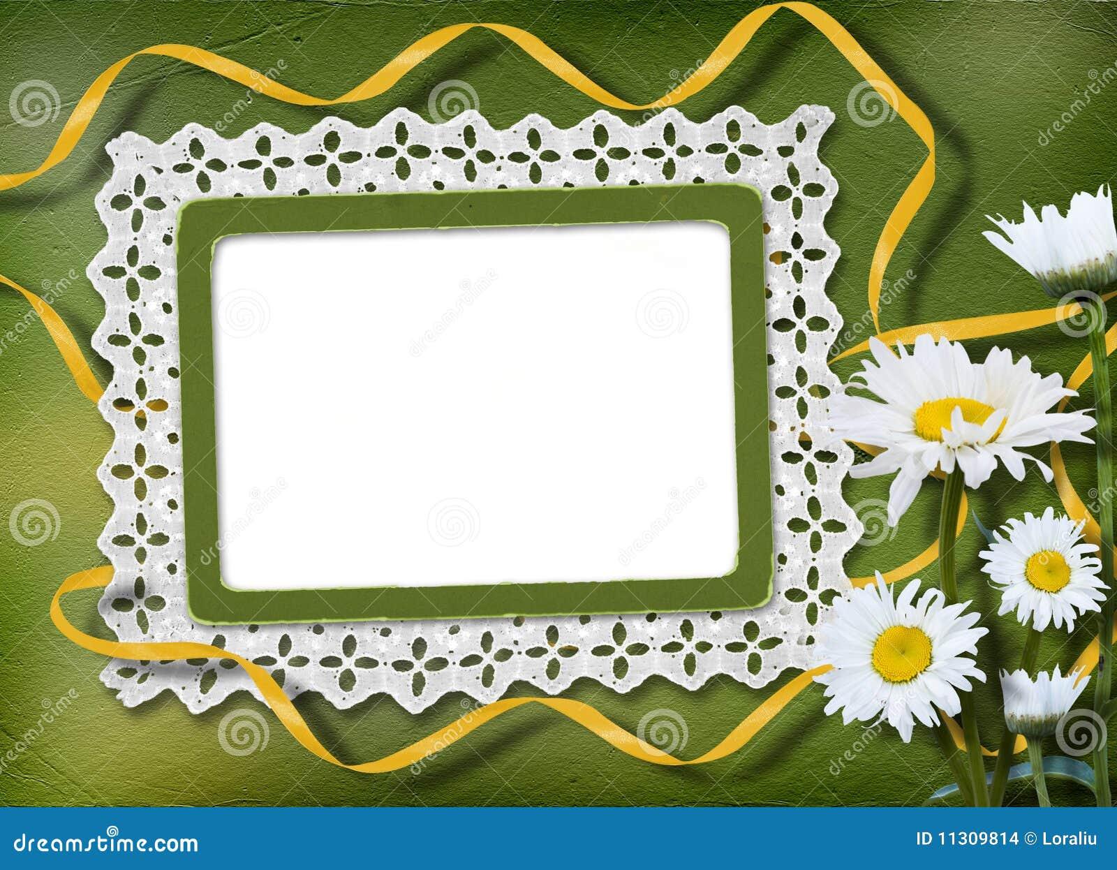 Grüner abstrakter Hintergrund mit Feld