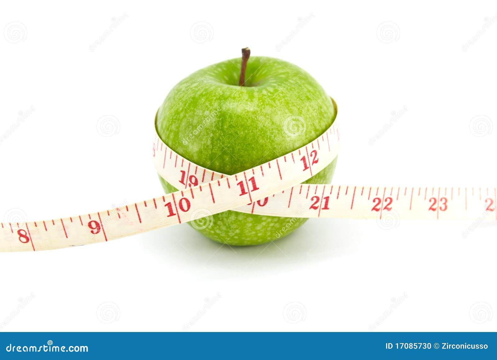 Grüner Apfel mit Band