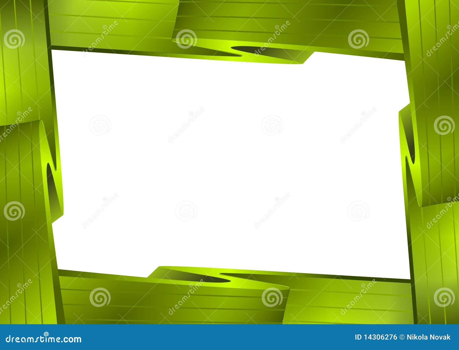 Grüner Bilderrahmen stock abbildung. Illustration von steigungen ...