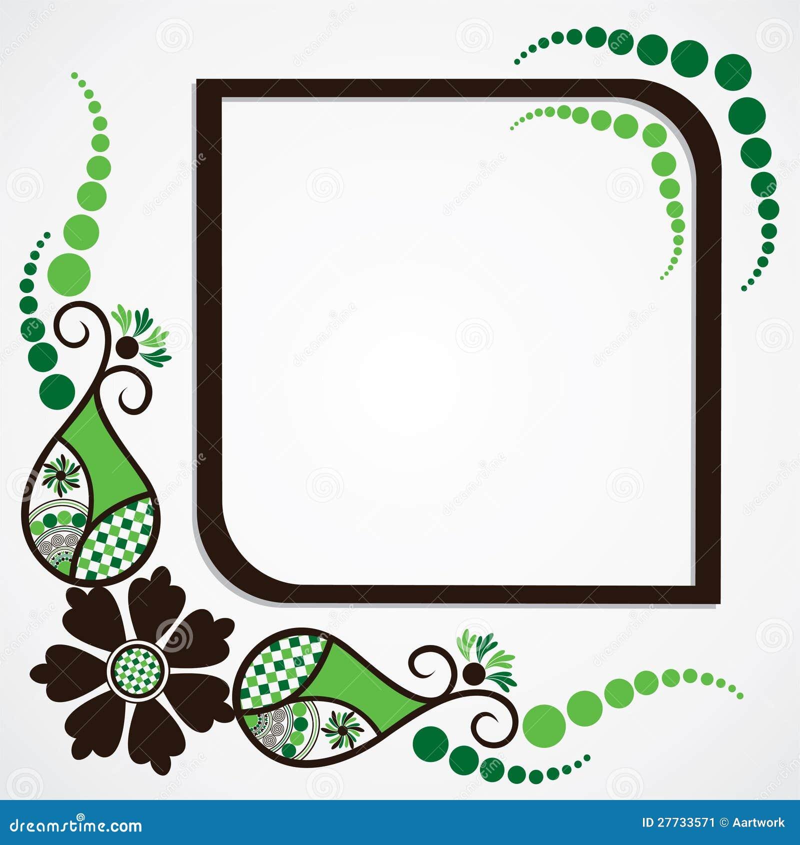 Grüner Blumenblatt-Feldhintergrund