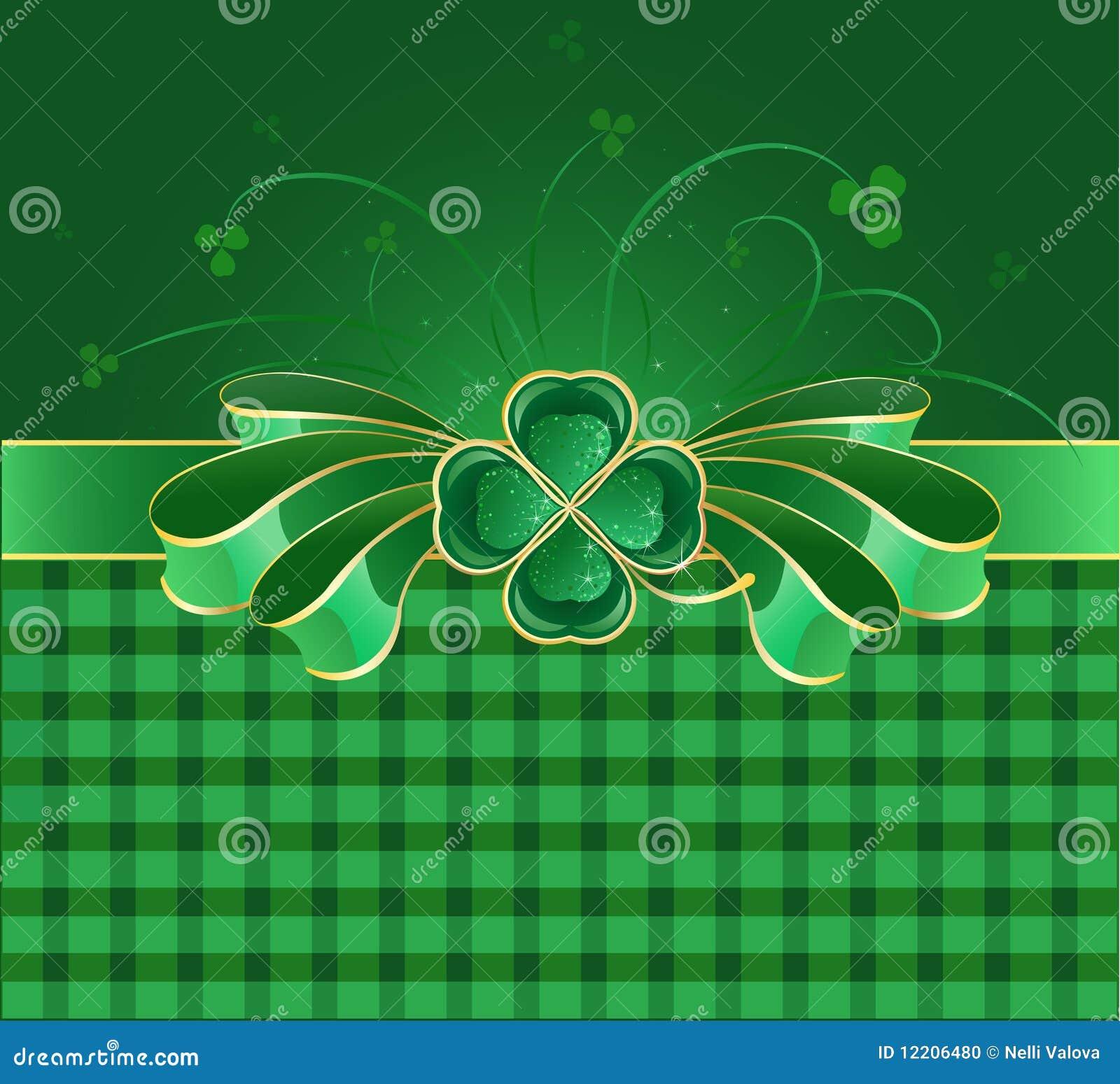 Grüner Bogen mit Klee