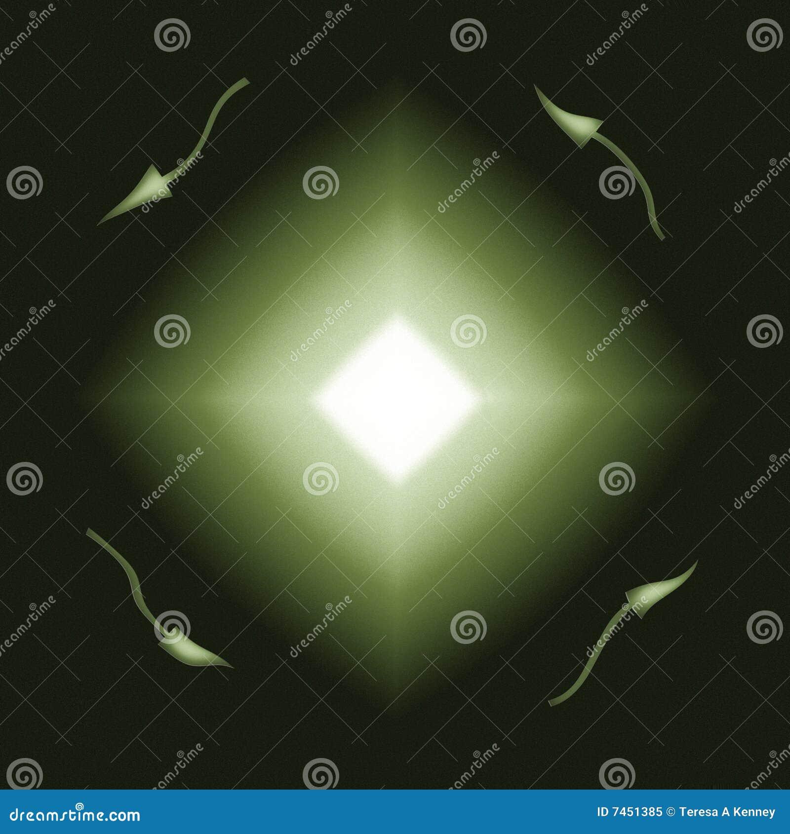 Grüner Diamant sprengte Richtungs