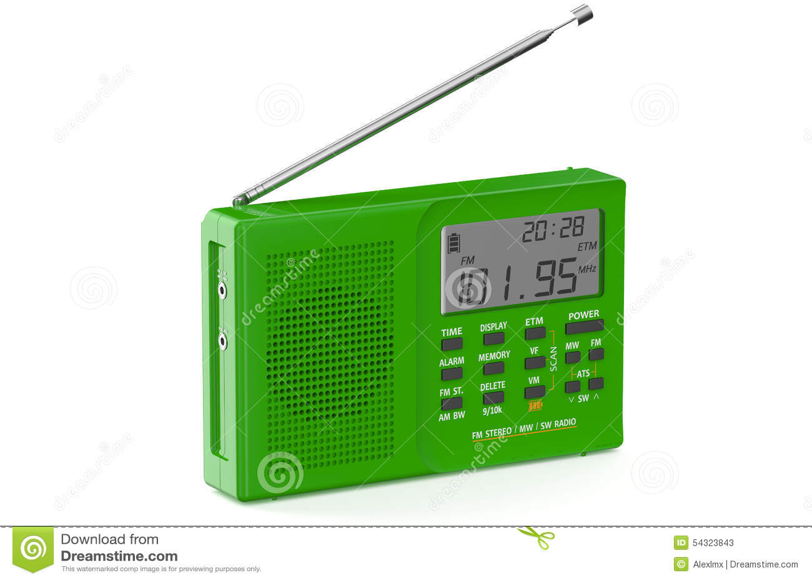 Grüner digitaler Radio