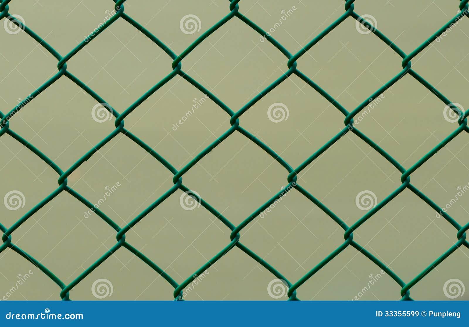 Grüner Draht-Zaun Lokalisiert Auf Brown-Hintergrund, Horizontal ...