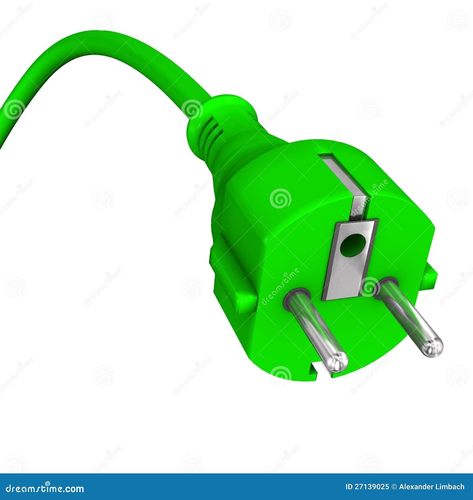 Grüner elektrischer Bolzen stock abbildung. Illustration von ...