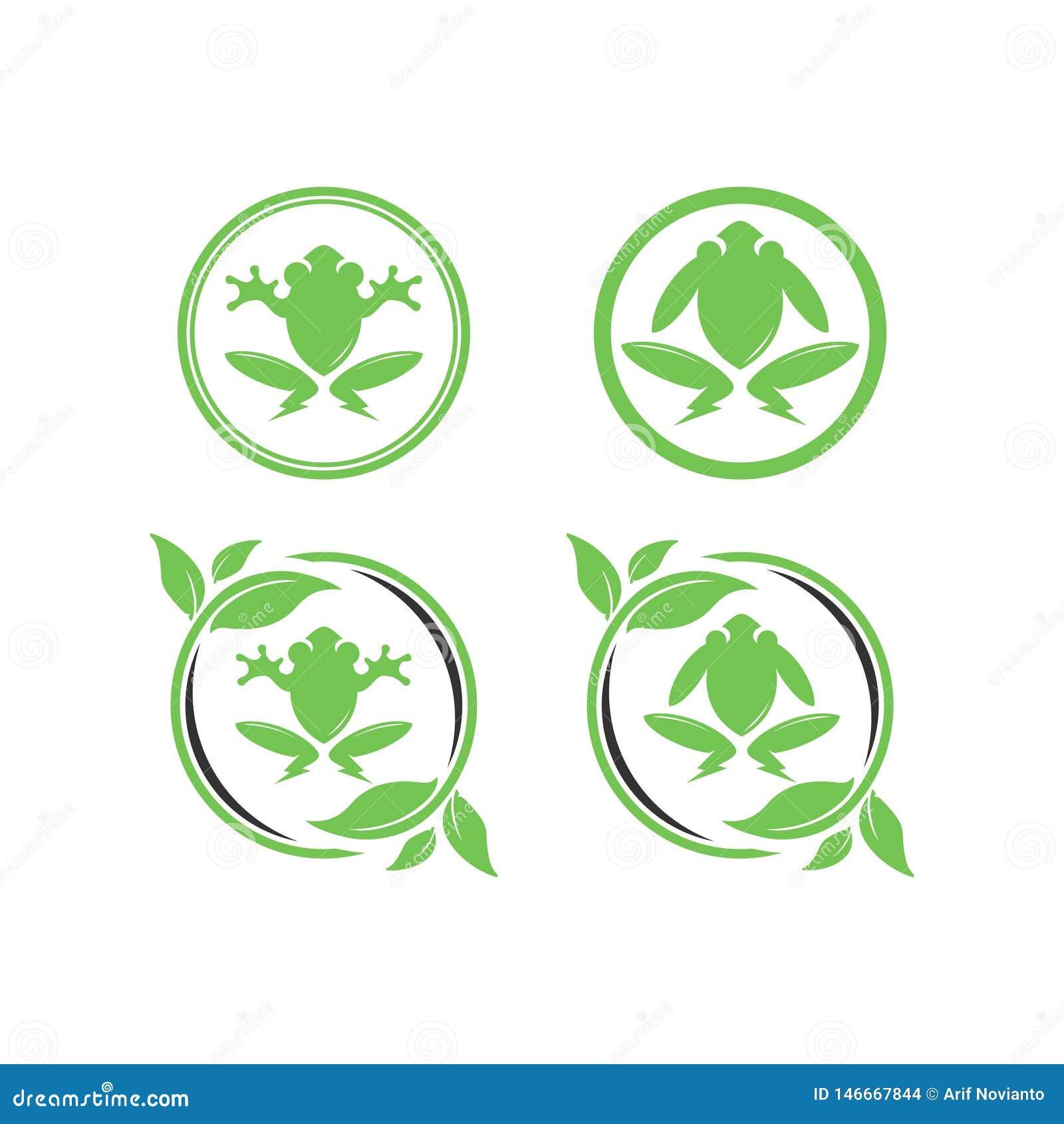 Grüner elektrischer Froschentwurf
