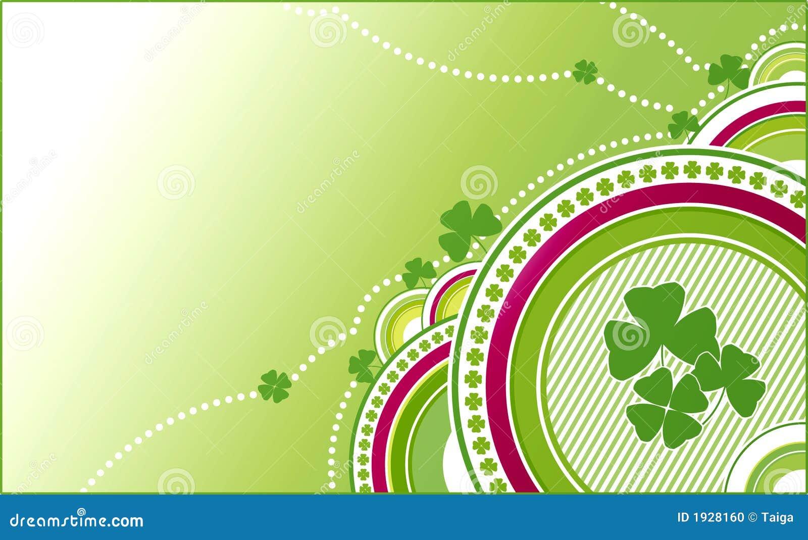 Grüner Hintergrund des Klees