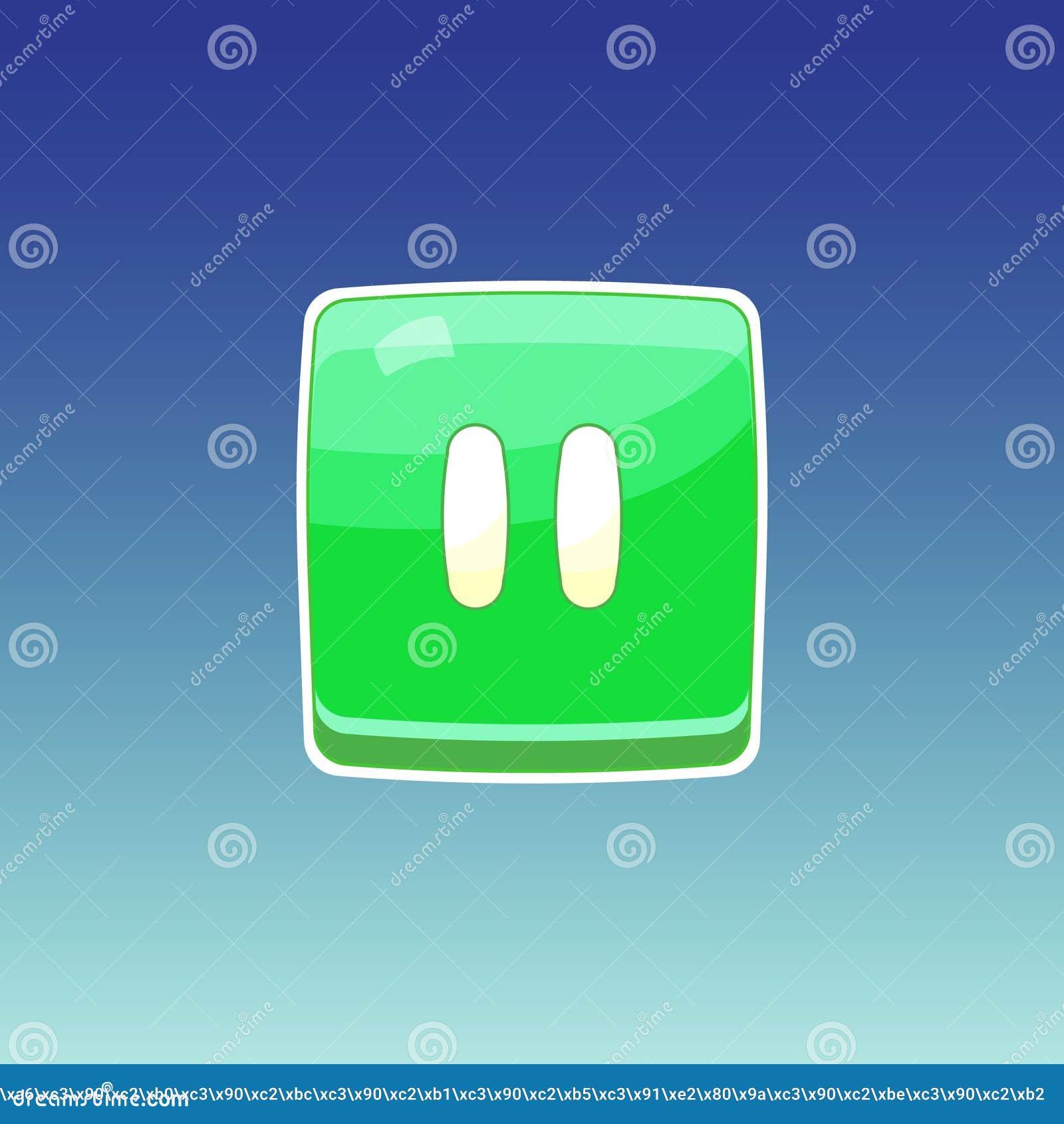Grüner Knopf des Spiels