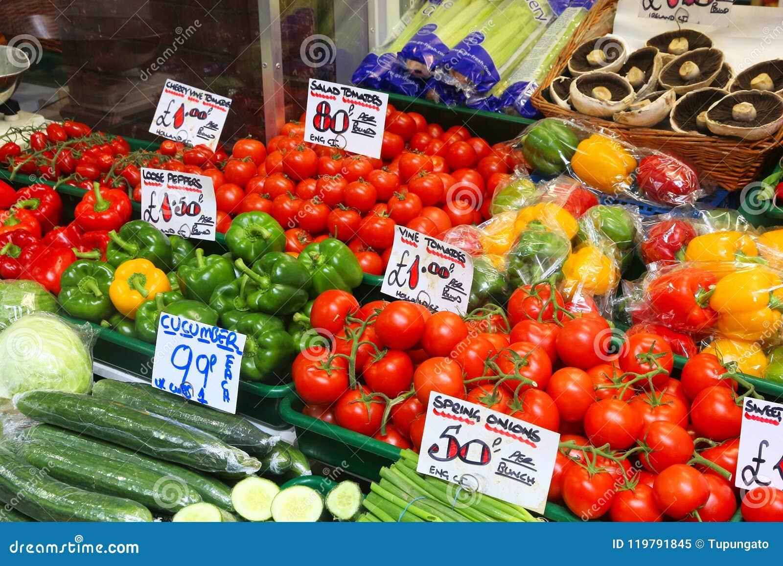 Grüner Lebensmittelhändler   s Großbritannien