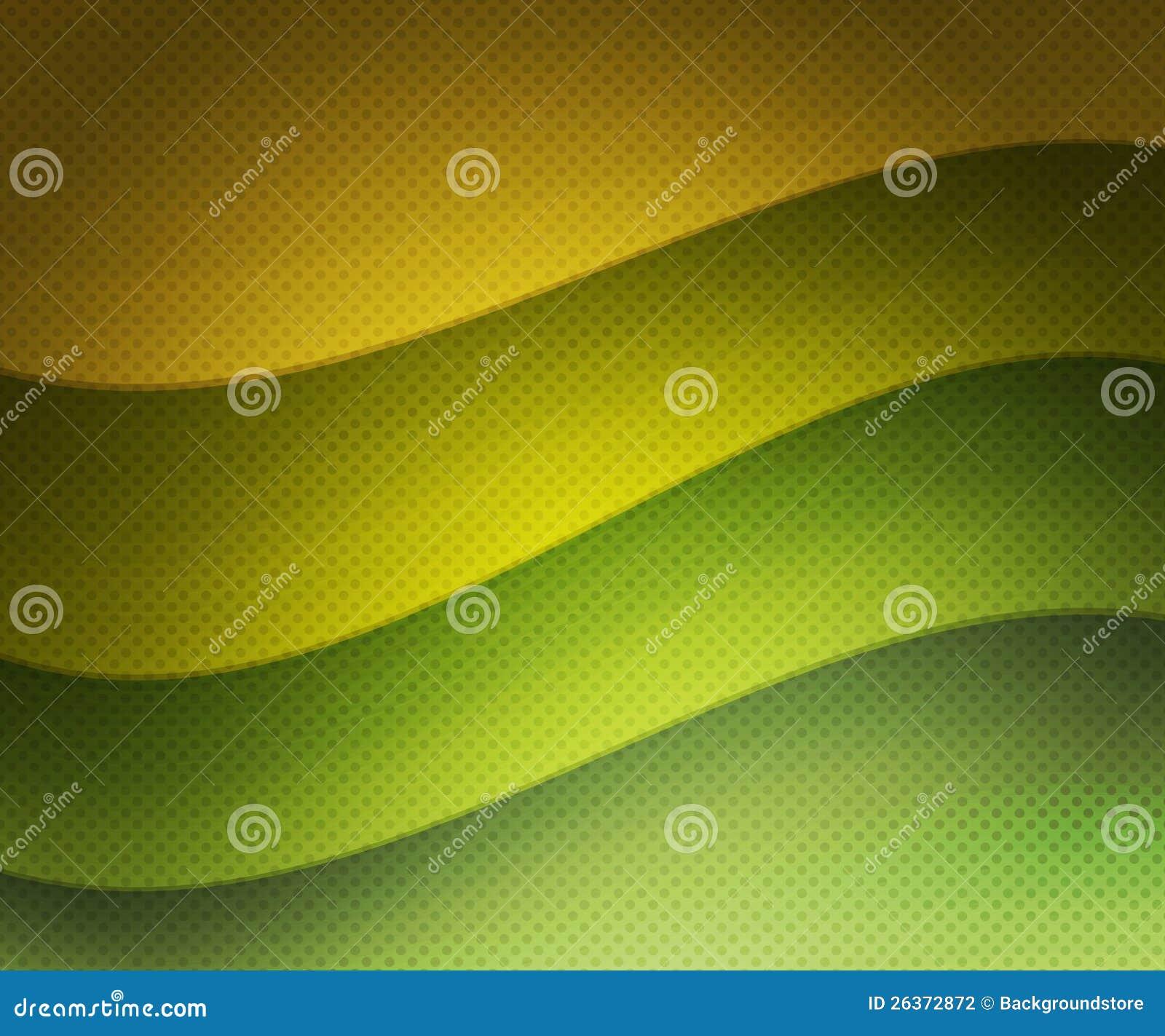 Grüner Retro- wellenförmiger Hintergrund