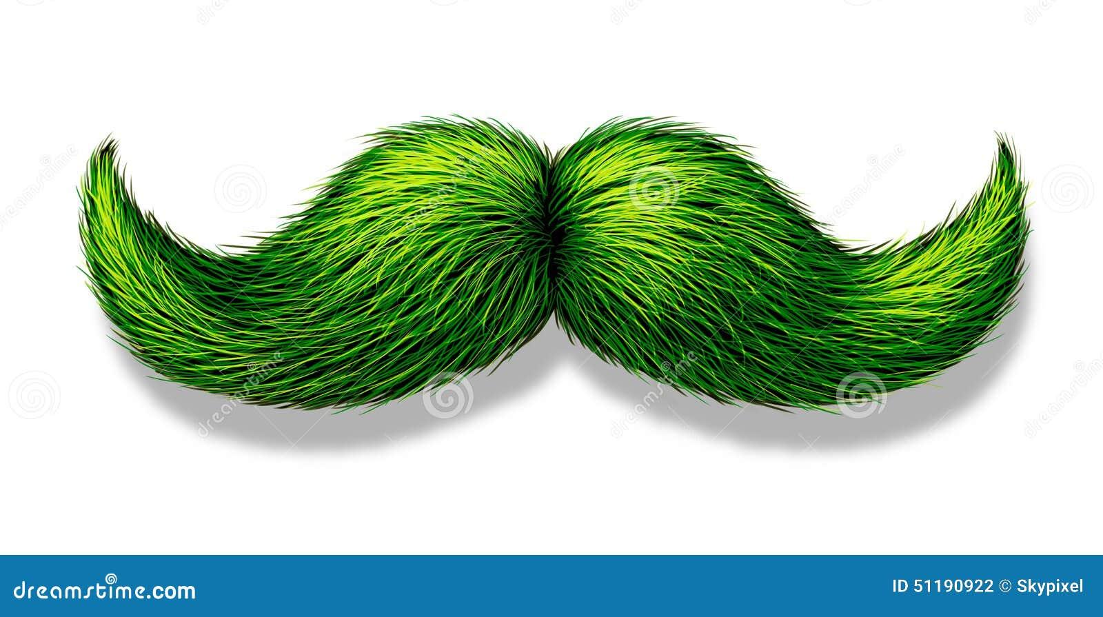Grüner Schnurrbart