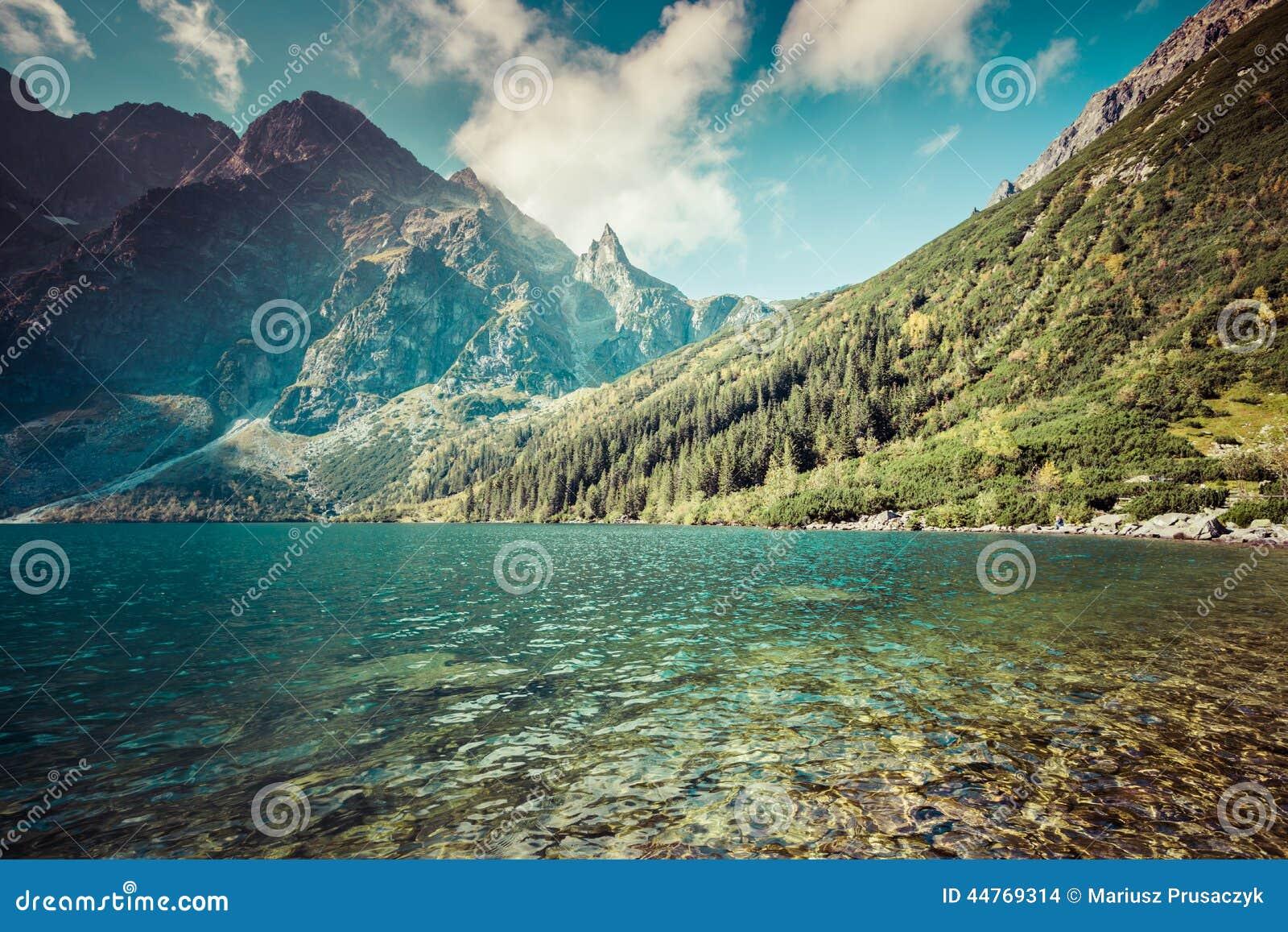 Grüner Wassergebirgssee Morskie Oko, Tatra-Berge, Polen