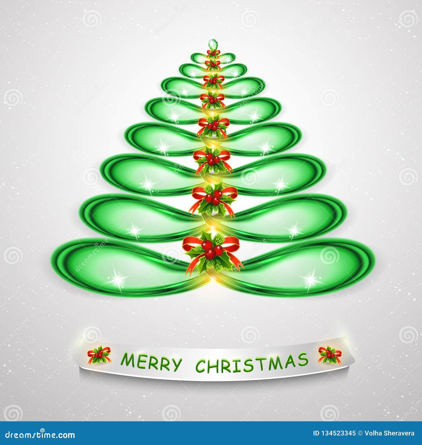 Grüner Weihnachtsbaum Abstraktes modernes 3d erleichterte Weihnachtsbaum für kreatives Grafikdesign Moderne Illustration 3D