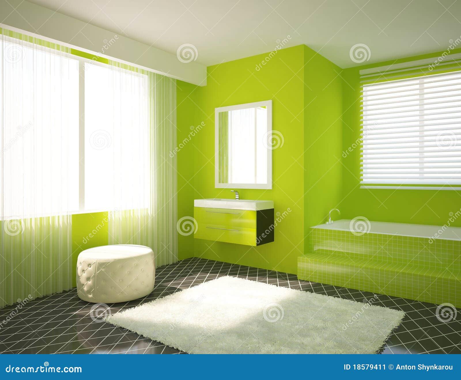 Grünes Badezimmer stock abbildung. Illustration von städtisch - 18579411