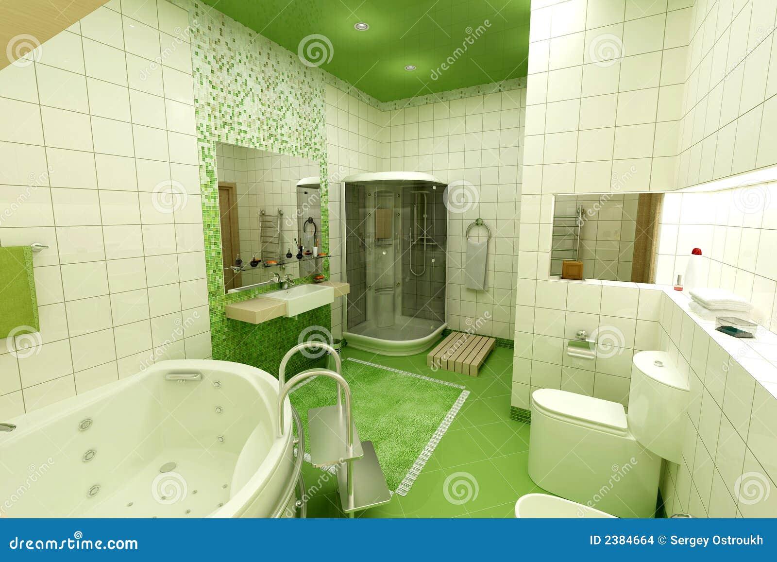 Grünes Badezimmer stockfoto. Bild von badezimmer, halskette - 2384664