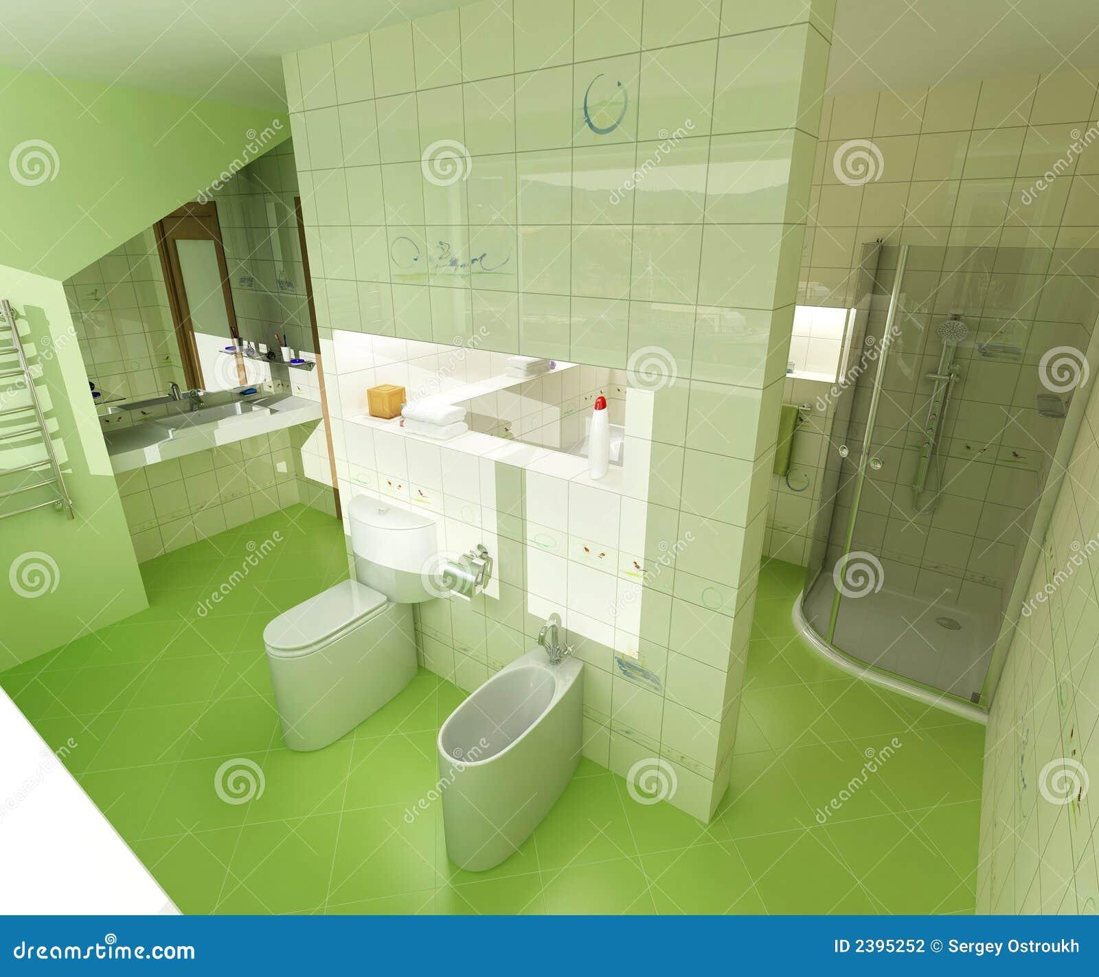 Grünes Badezimmer stock abbildung. Illustration von seifenlauge ...
