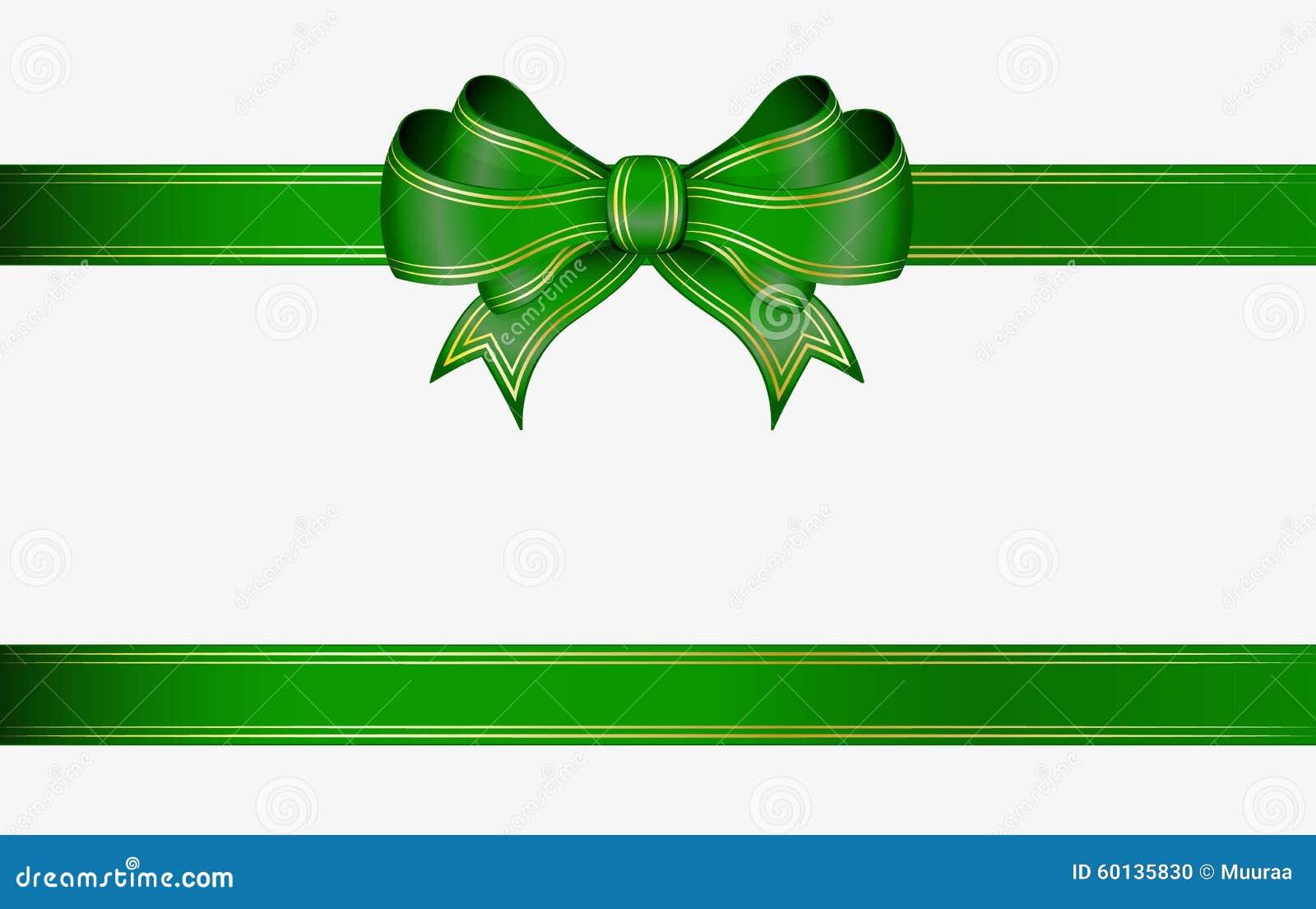 Grünes Band und Bogen