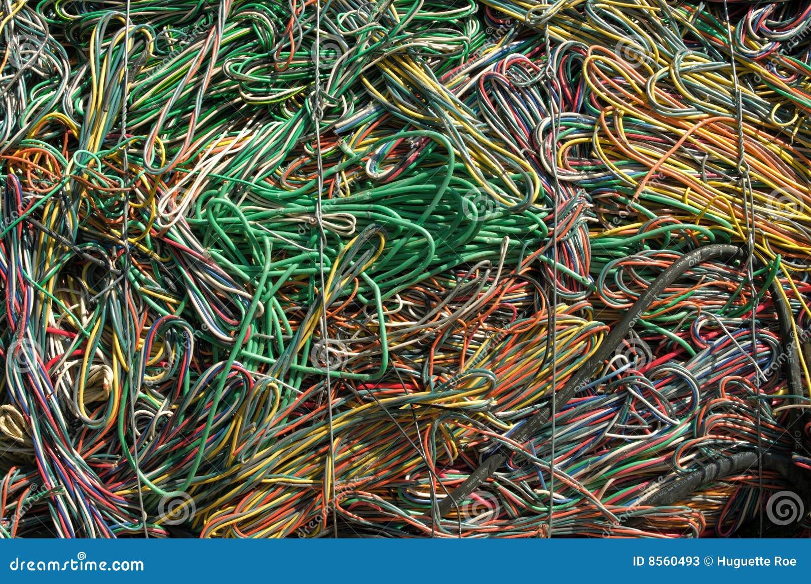 Grünes Gelb der Seilzüge