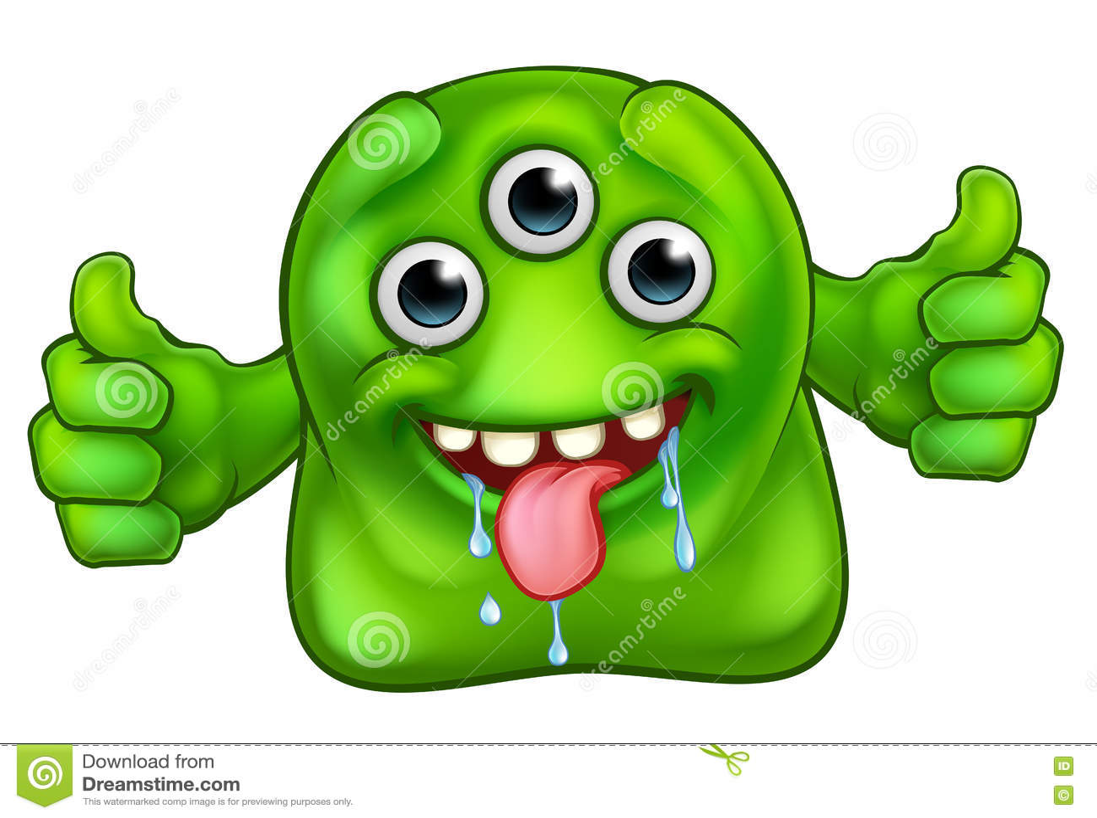 Grünes nettes ausländisches Monster