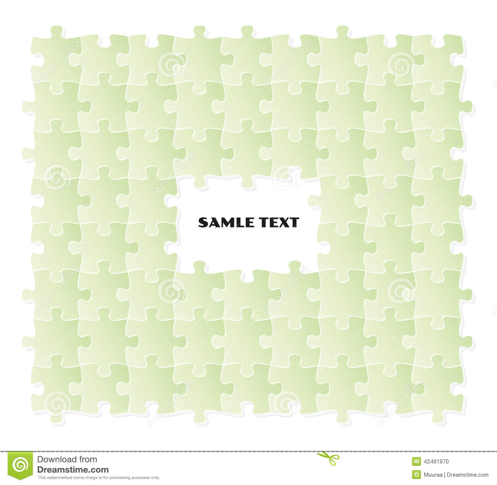 Grünes Puzzlespielfeld