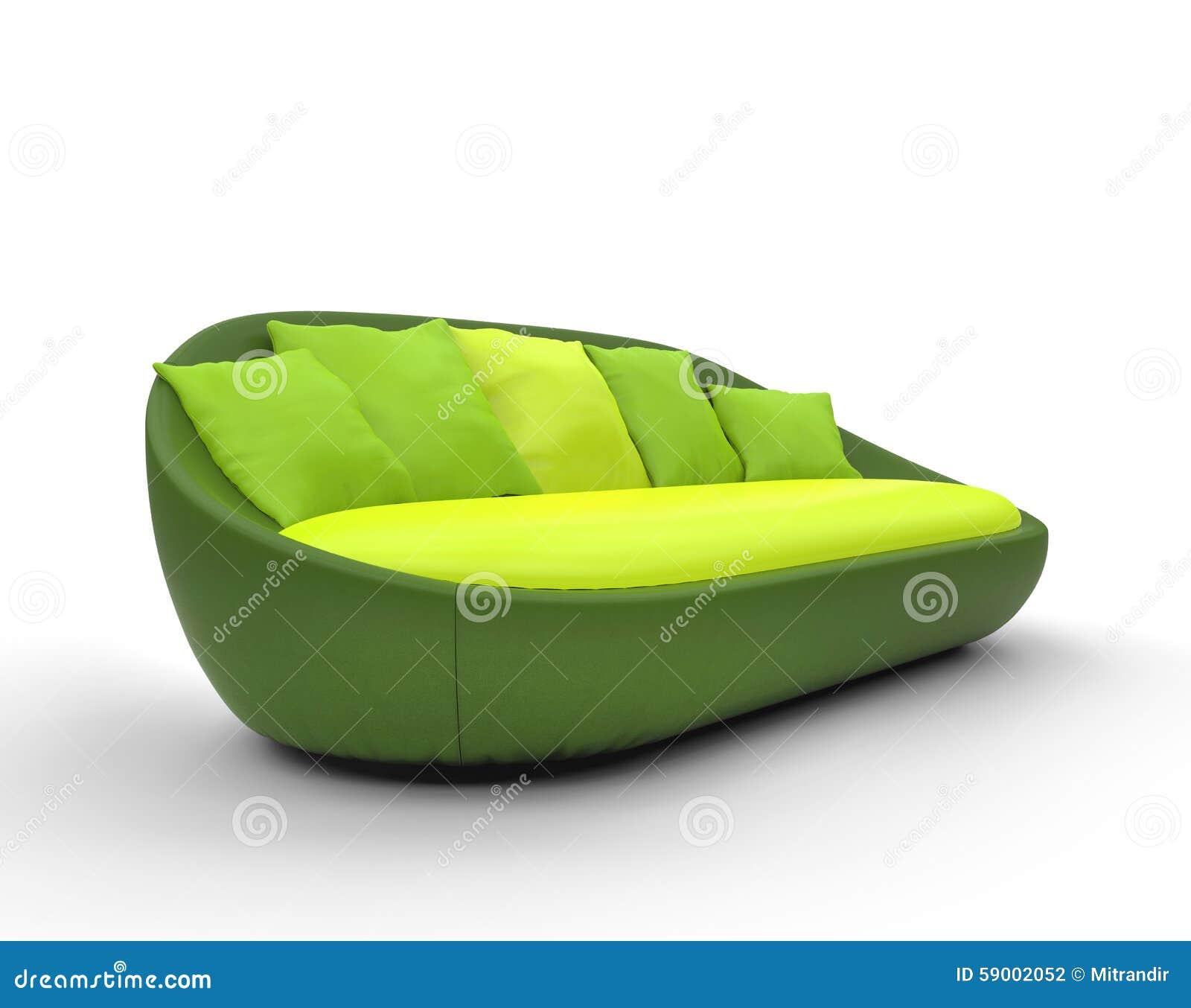 Grunes Rundes Sofa Stockfoto Bild Von Lehnsessel Dekoration 59002052