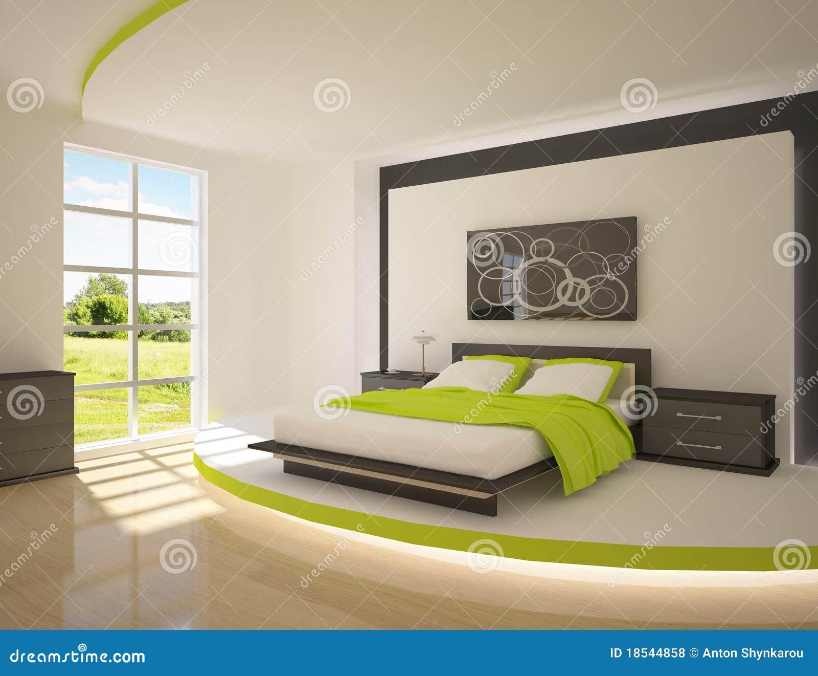 Grünes Schlafzimmer stock abbildung. Illustration von luxus - 18544858