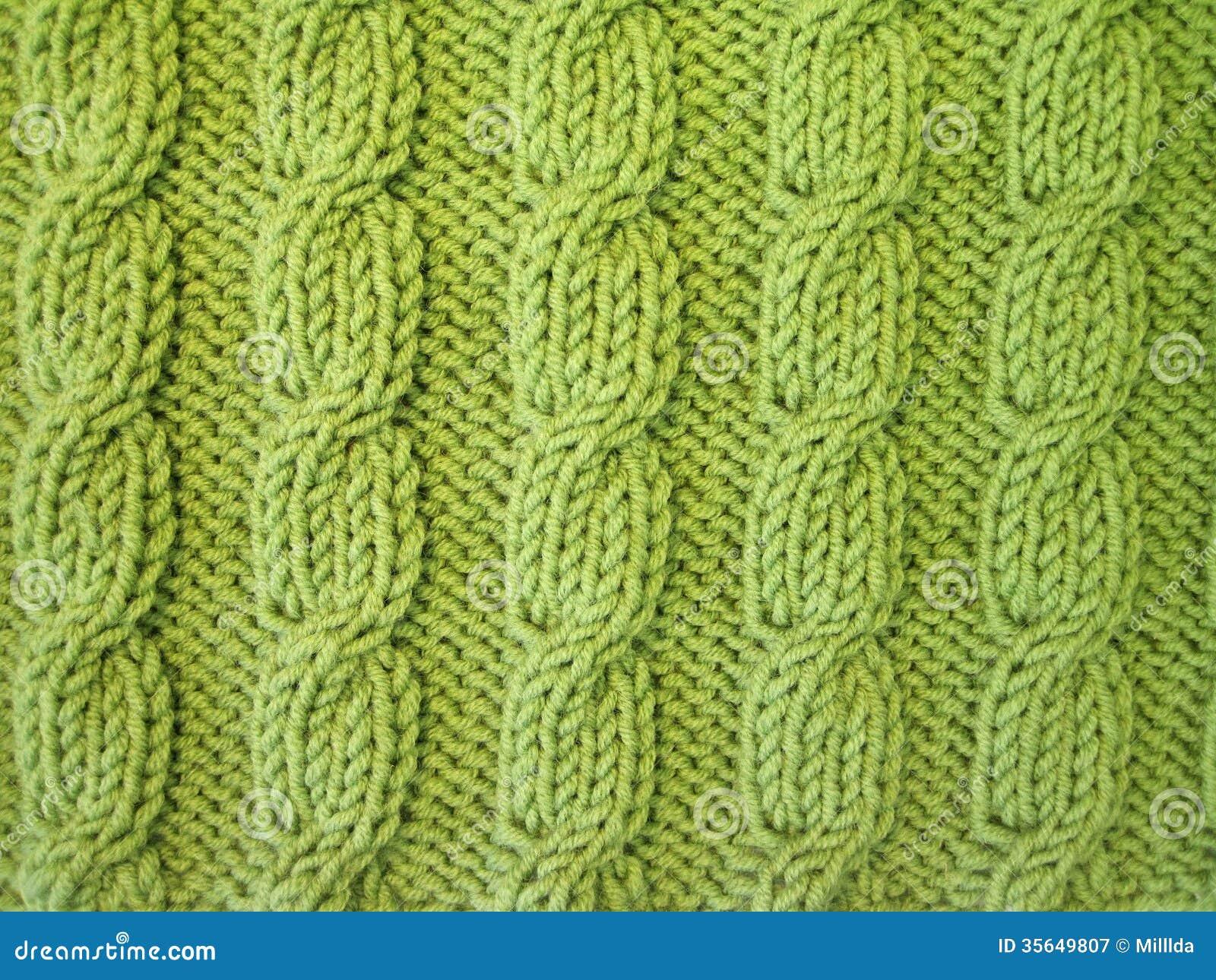Grünes Stricken
