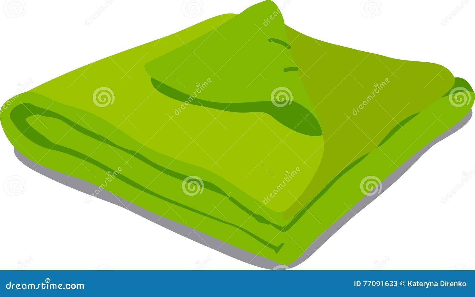 Grünes Tuch auf weißem Hintergrund