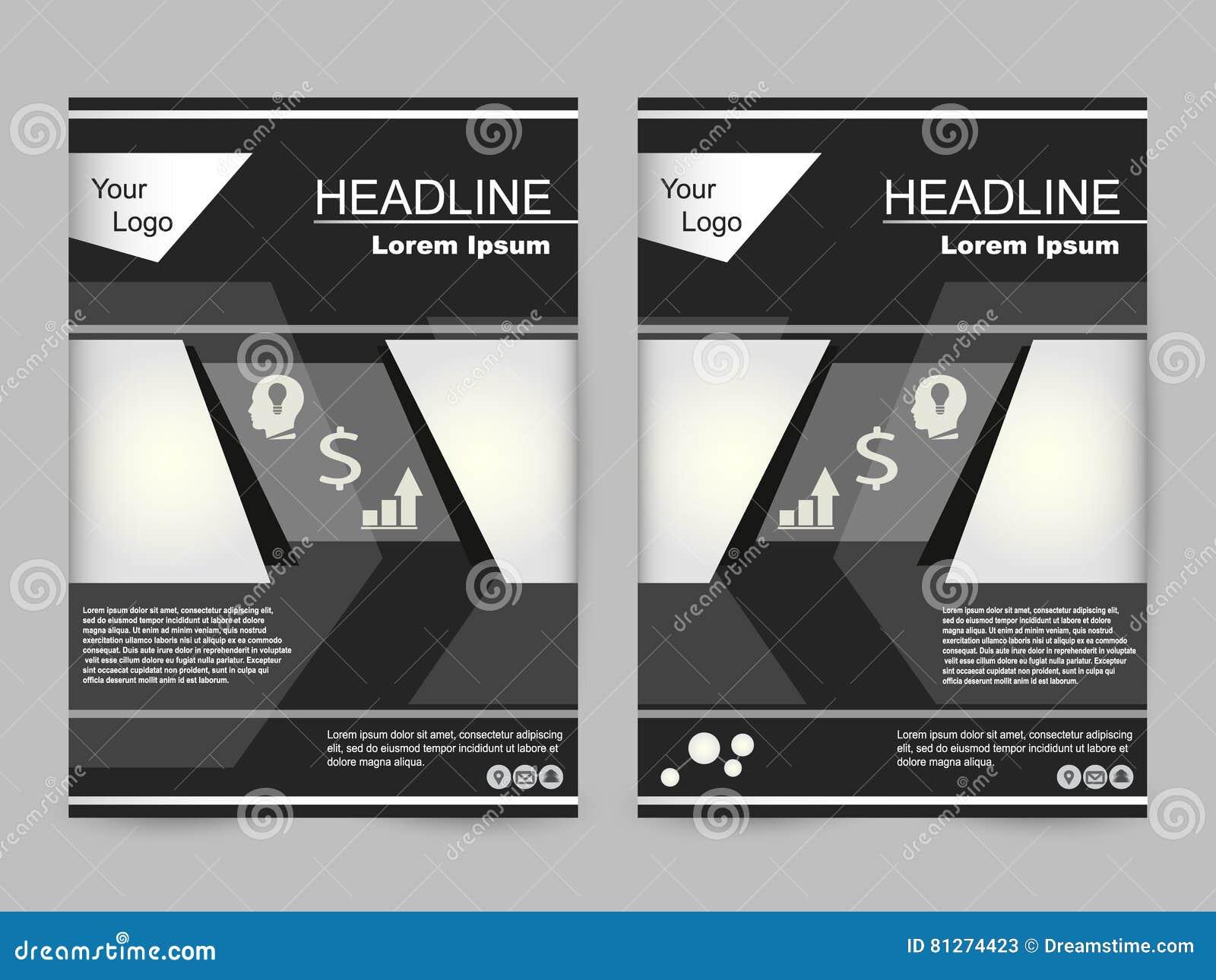 Grünes und schwarzes Broschürendesign