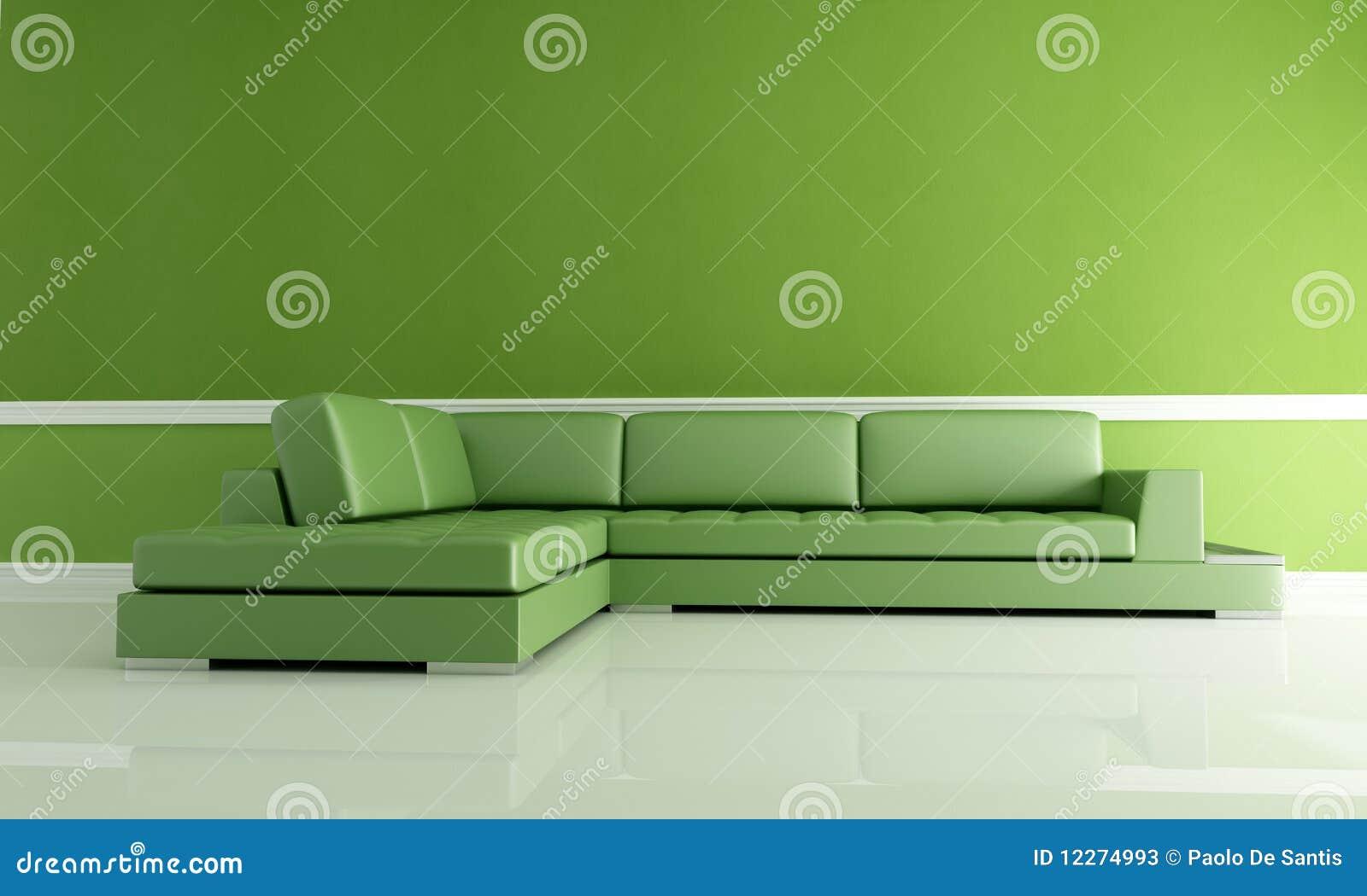 grünes wohnzimmer stockfotos - bild: 12274993, Wohnzimmer