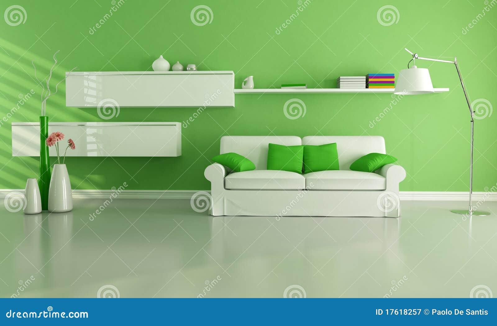 grünes wohnzimmer lizenzfreie stockfotografie - bild: 17618257, Wohnzimmer