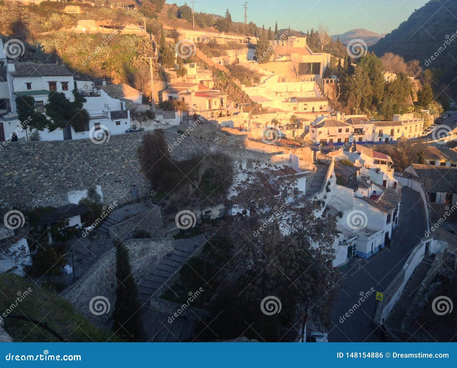 Gr AlbaicÃn, het dakschot van Granada