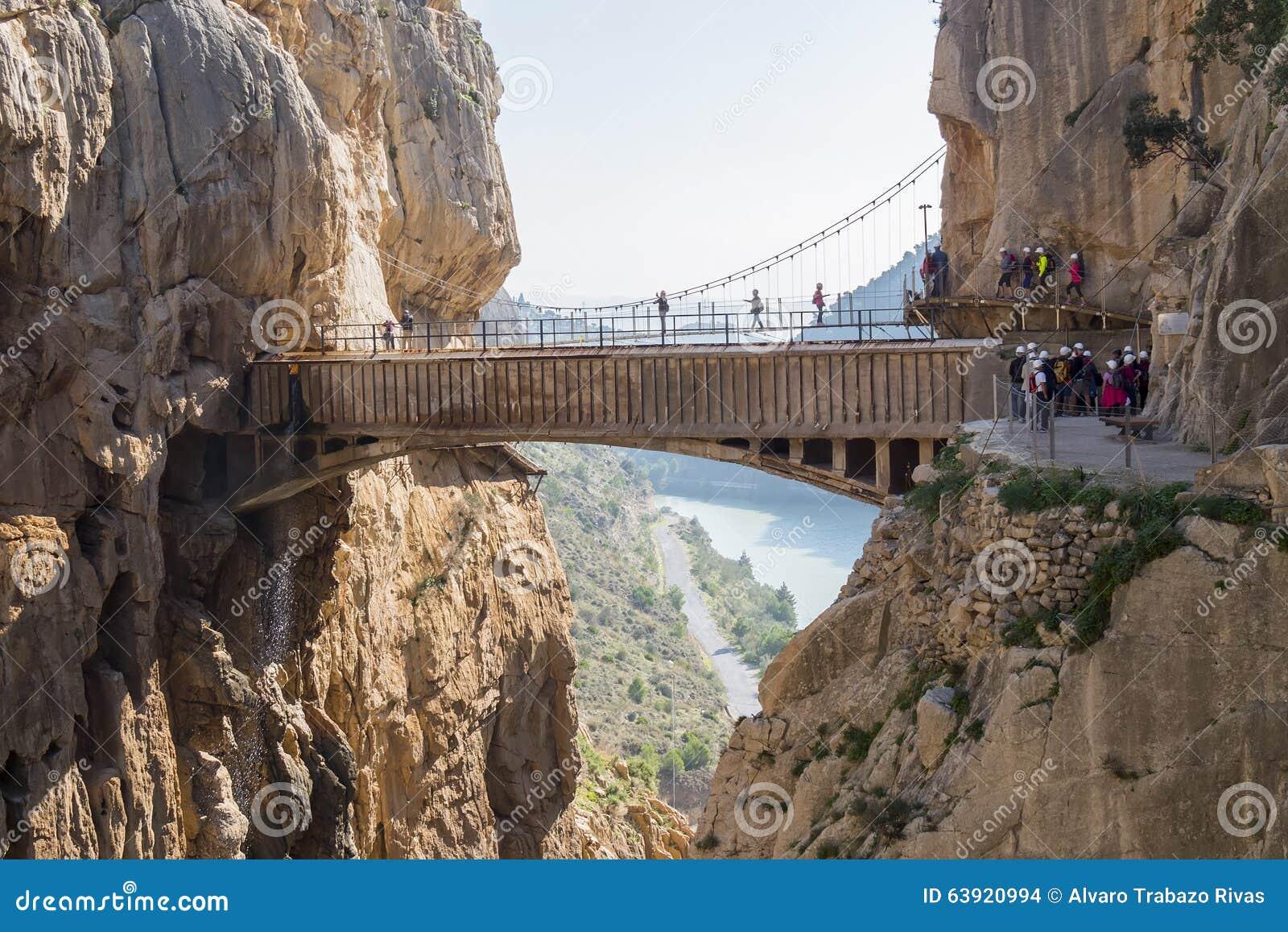 Gr Caminito del Rey  (Weinig Weg van de Koning), het Meeste Gevaar van de Wereld
