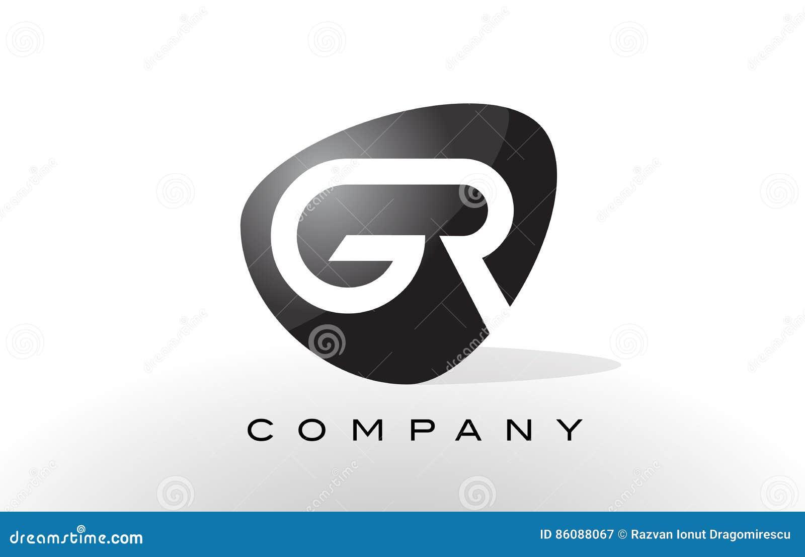 9f865b9a3f33 GR Logo. Letter Design Vector. Stock Vector - Illustration of ...