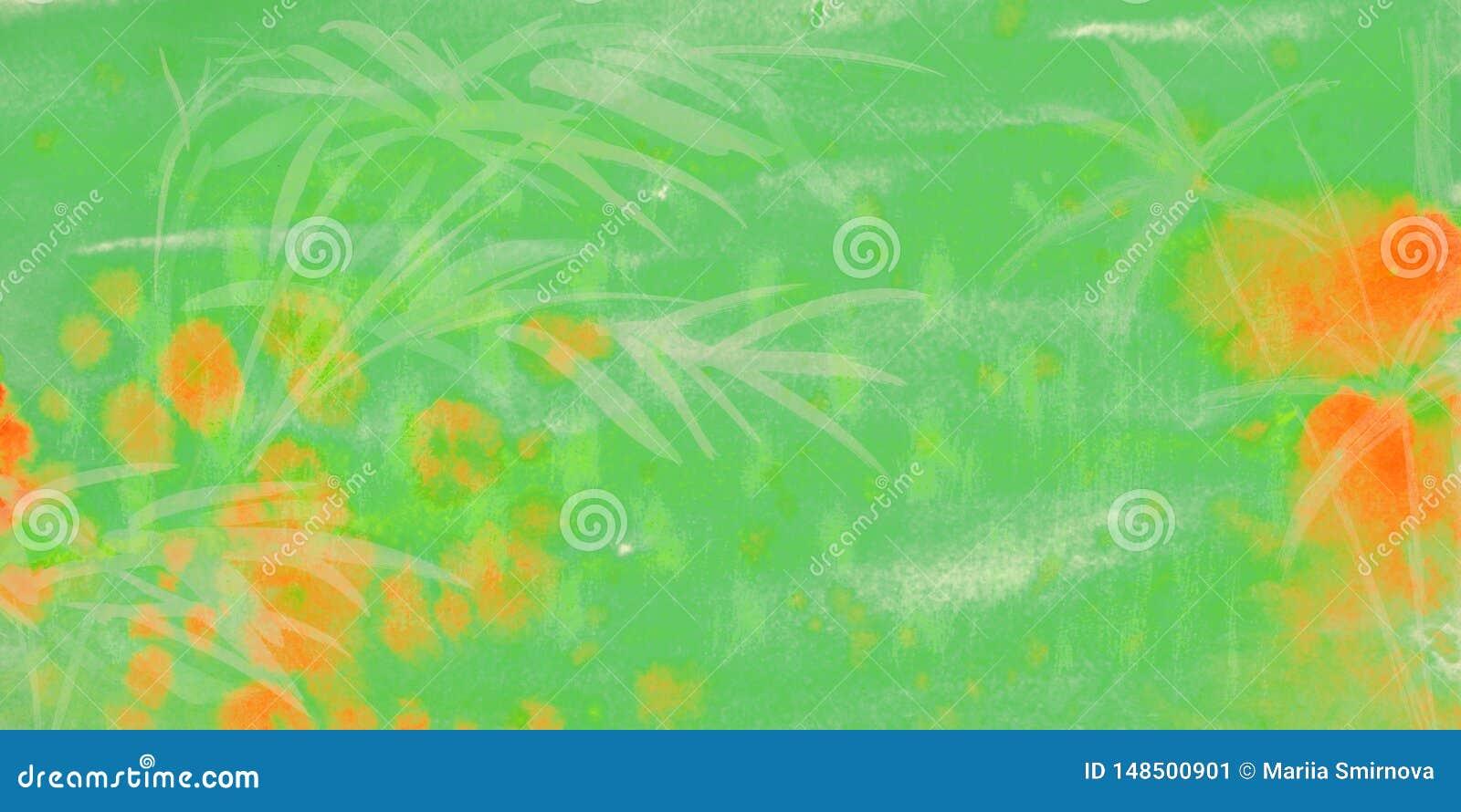 Gr?ner Hintergrund des Aquarells