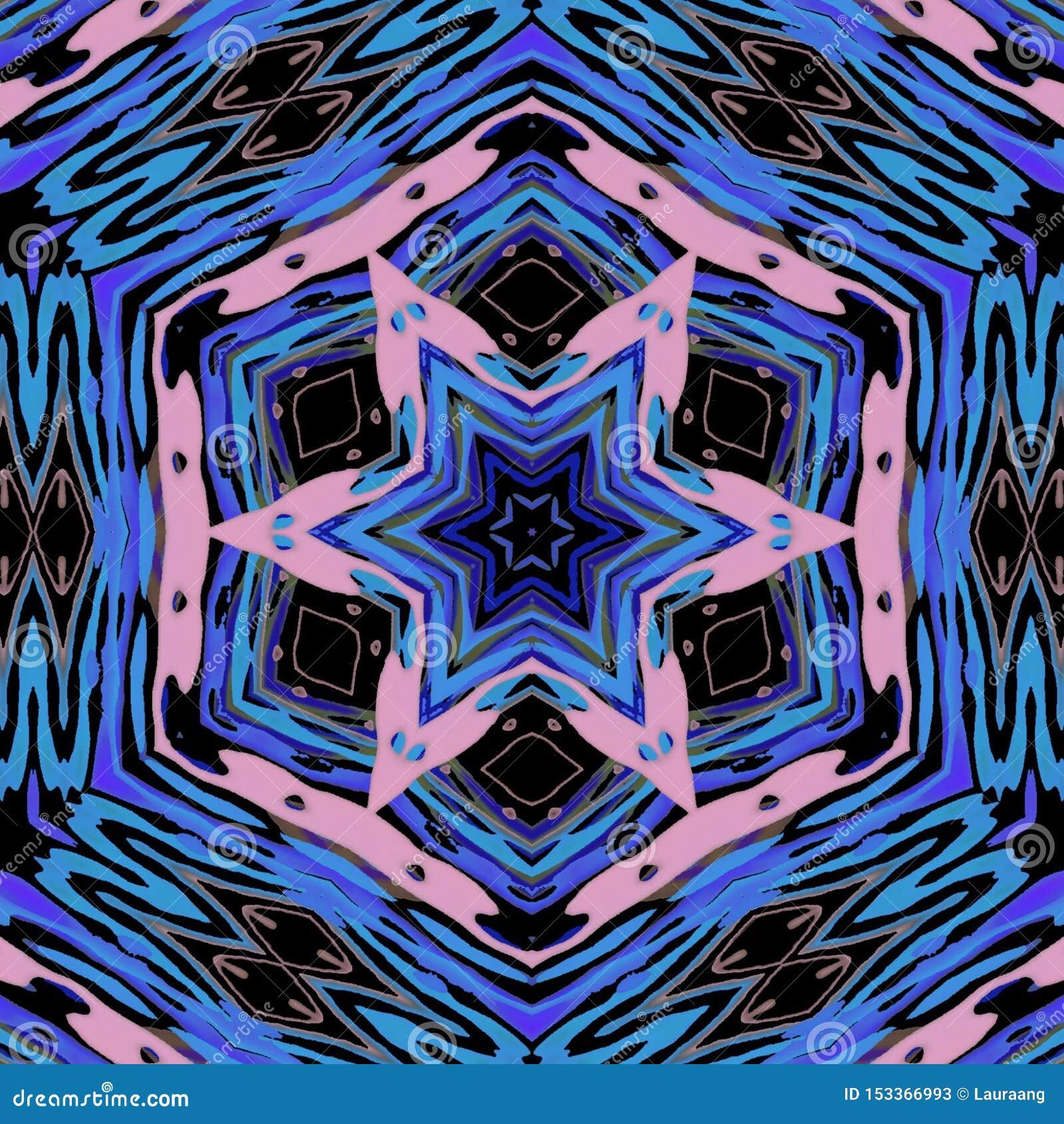 Gra główna rolę abstrakcjonistycznego projekt z menchiami i błękitów kolorami