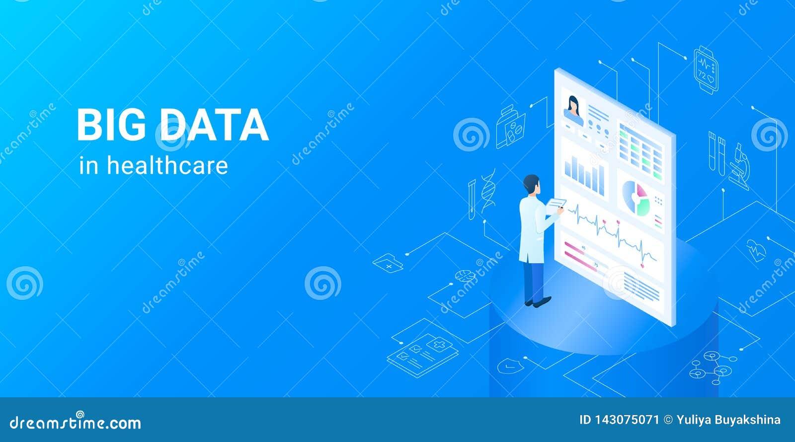 Graaf gegevens in gezondheidszorg - de elektronische reeksen van gezondheidsgegevens