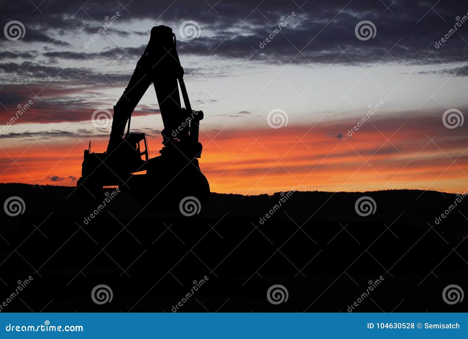 Download Graafwerktuig ter wereld stock foto. Afbeelding bestaande uit emmer - 104630528