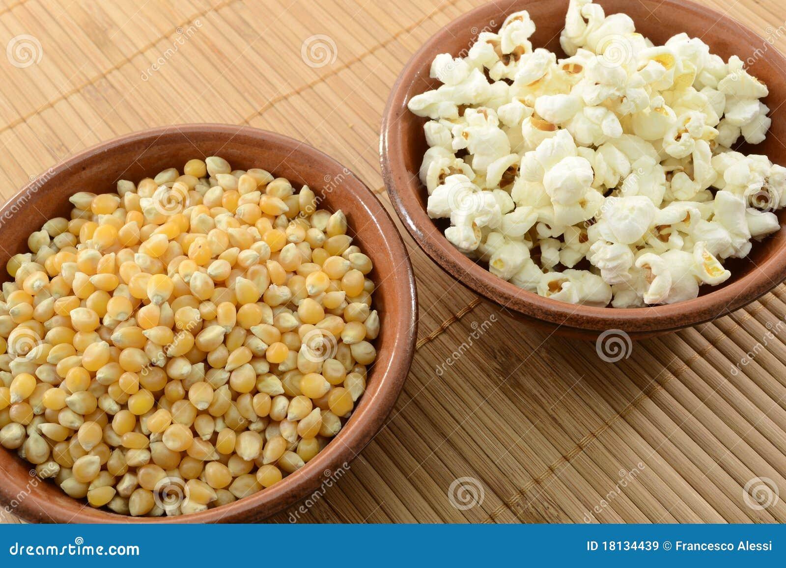Graan en popcorn