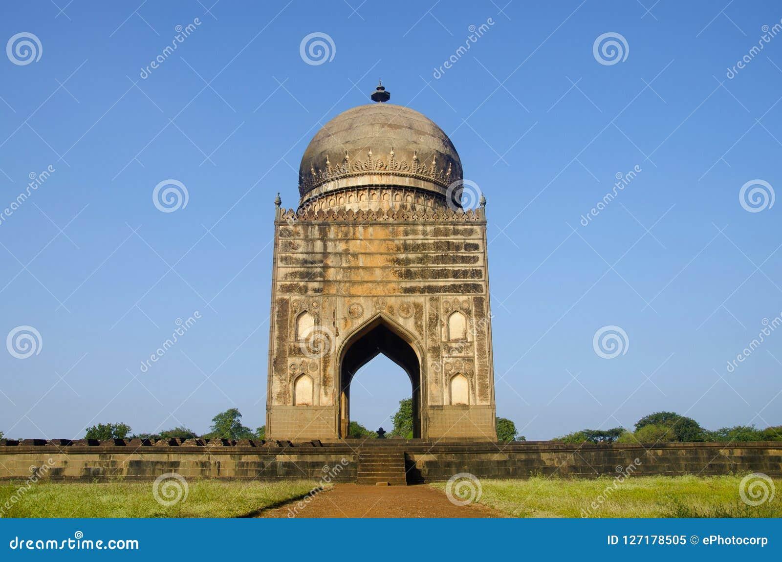 Grab von Ali Barid Shah, Bidar, Karnataka-Staat von Indien