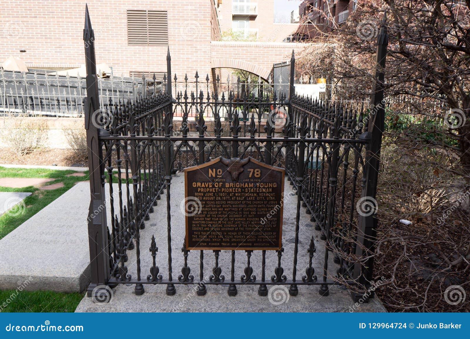 Grab von Brigham Young, Präsident von LDS, das Grab der Mormonenkirche
